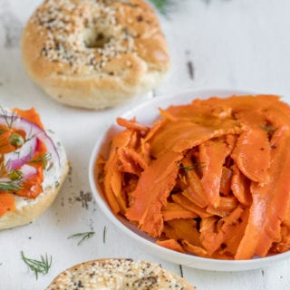 Vegan Carrot Lox {oil-free}