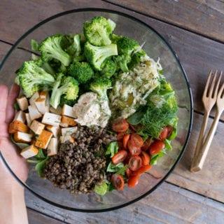 Easy Hummus Sauerkraut Salad