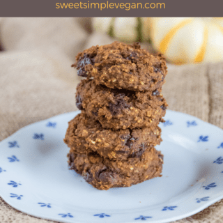 Pumpkin Chickpea Chocolate Chip Cookies {Gluten- Oil- & Refined Sugar Free}