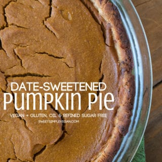 Date-Sweetened Pumpkin Pie {oil, gluten & refined sugar free}