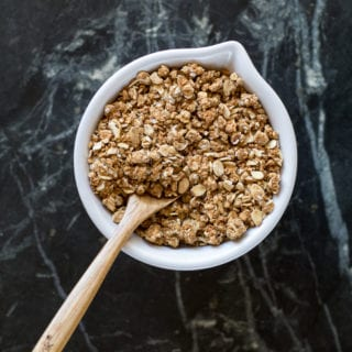 Vegan Graham Cracker Granola (oil-free w/ gluten-free option)