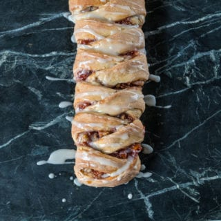 Vegan Braided Cream Cheese & Jam Danish + How To Braid Dough sweetsimplevegan.com