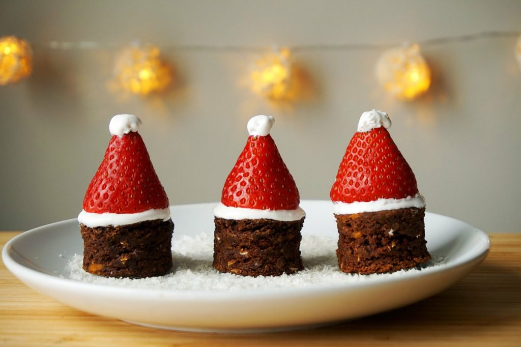 Santa Hat Chocolate Cake Sweetsimplevegan.com