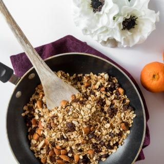 6-Ingredient Stovetop Granola {oil- & gluten-free}