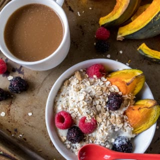 Roasted Kabocha Squash Breakfast Bowls