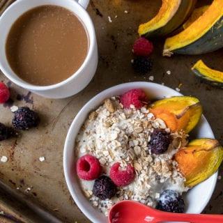 Roasted Kabocha Squash Breakfast Bowls