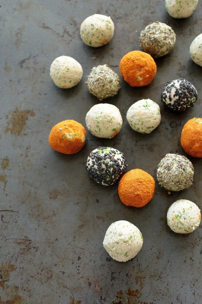 Spicy Bean Balls w/ Kale | 35 Vegan Super Bowl Recipes -- Healthy & Oil-Free! | sweetsimplevegan.com