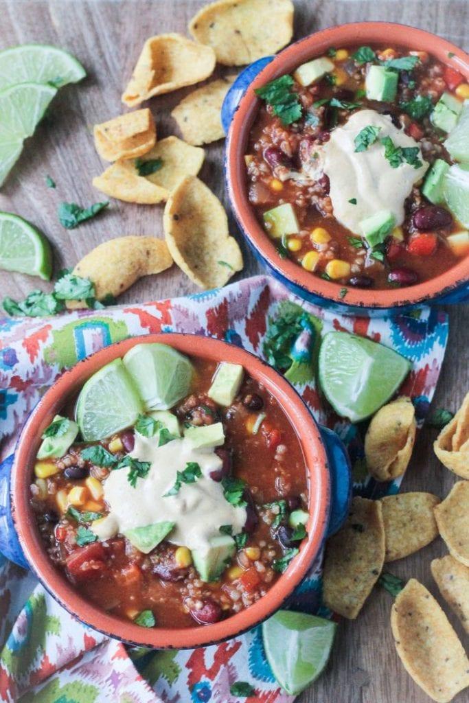 Meatless Taco Chili