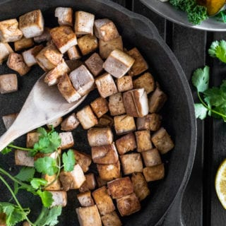 Easy Smoky Tofu {vegan + oil-free} + Tips To Perfectly Press and Prepare Tofu