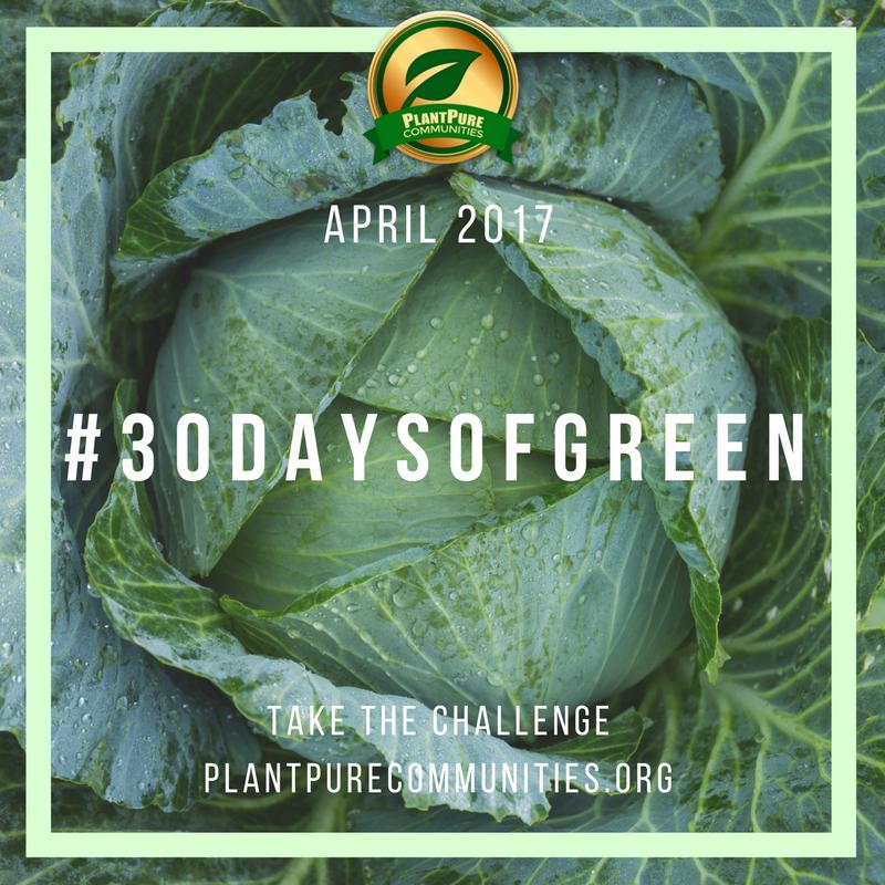 #30DaysofGreen Challenge sweetsimplevegan.com