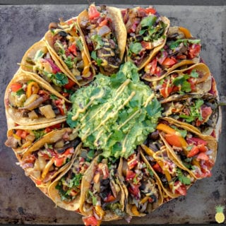 The BEST Vegan Taco Pizza w/ Fajita Veggies — Viral Taco Pizza GOES VEGAN!