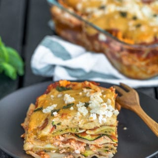 Epic Vegan Ravioli Lasagna w/ Stretchy Cashew Mozzarella {oil-free} sweetsimplevegan.com #veganitalian #epicvegan #veganfood #lasagna #veganpasta #veganmozzarella #veganravioli