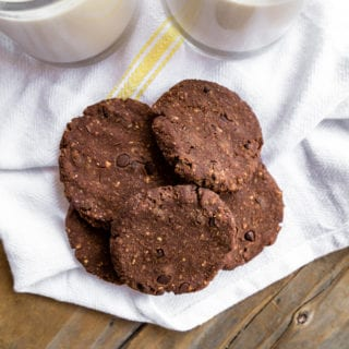 Chocolate Sweet Potato Almond Pulp Cookies {oil- gluten- & refined-sugar free}