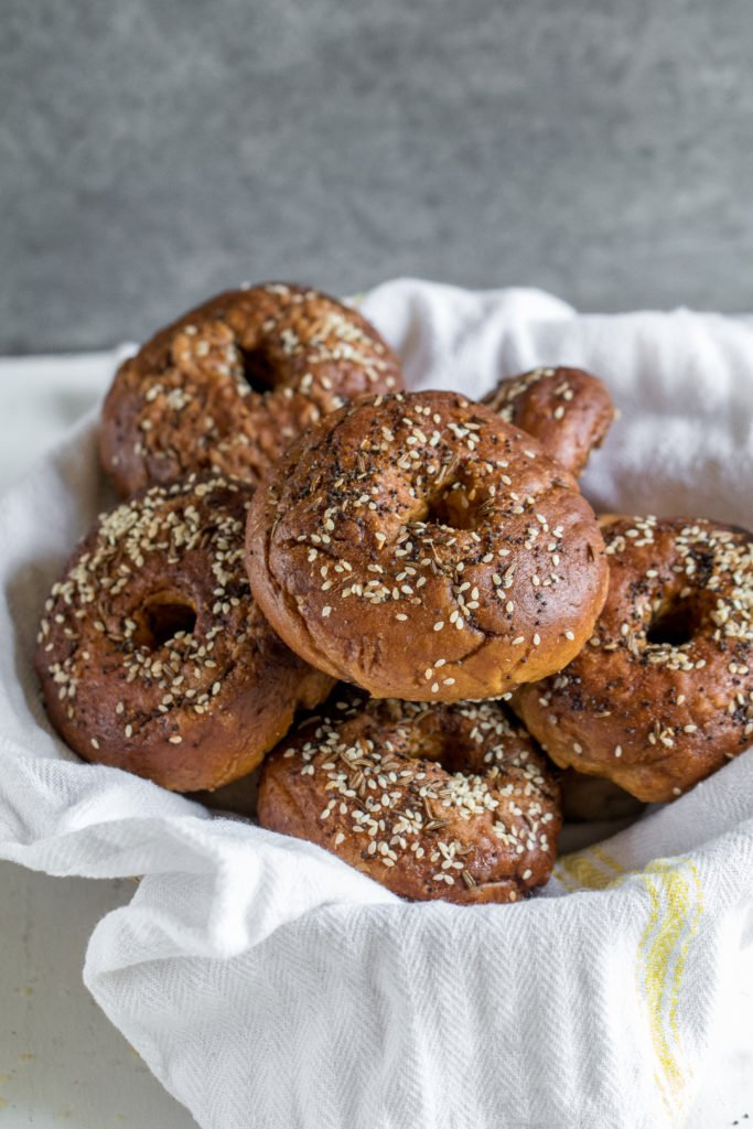 Everything Pretzel Bagels w/ Vegan Carrot Lox {oil-free} sweetsimplevegan.com #carrotlox #pretzel #vegan #pretzelbagel #oilfree