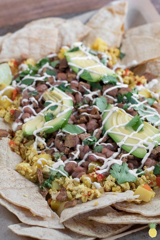 Vegan Breakfast Nachos + 10 must try recipes! #vegan #breakfast #dinner #brinner #epic #musttry #nachos #oilfree