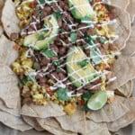 Vegan Breakfast Nachos + 10 Vegan Breakfast For Dinner? 10 must try recipes! #vegan #breakfast #dinner #brinner #epic #musttry #nachos #oilfree