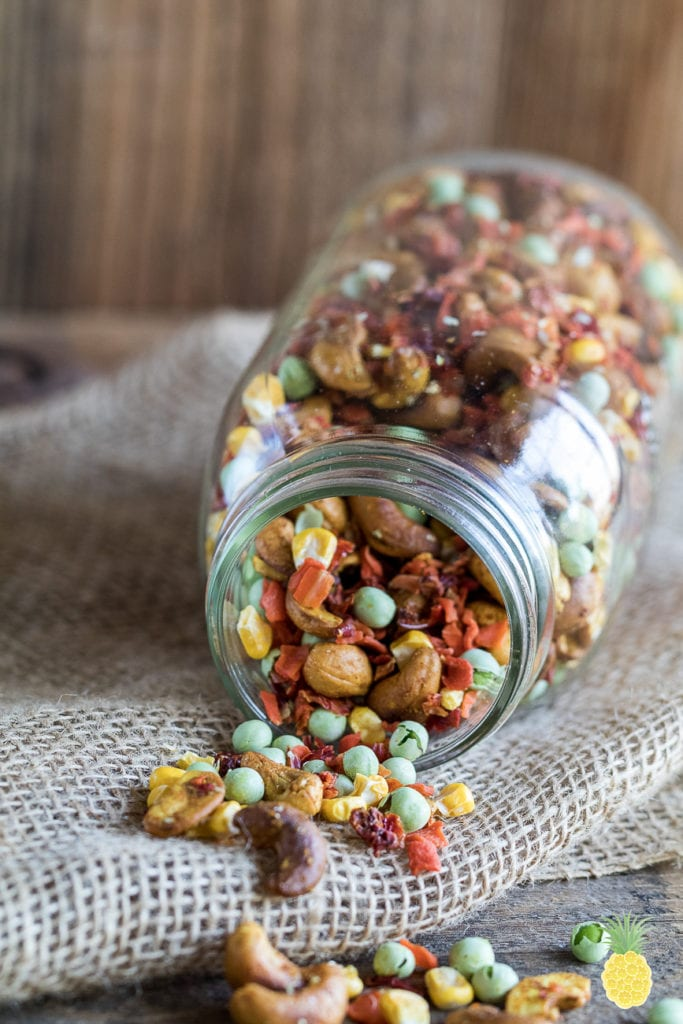Curried Cashew & Veggie Trail Mix {oil-free} sweetsimplevegan.com #vegan #sweetsimplevegan