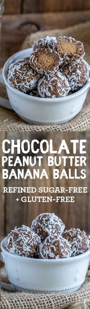 Healthy Chocolate Banana Peanut Butter Balls! {vegan & refined sugar-free} sweetsimplevegan.com