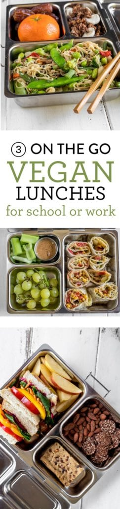 Easy On The Go Vegan Lunches for Schoo or Work! sweetsimplevegan.com