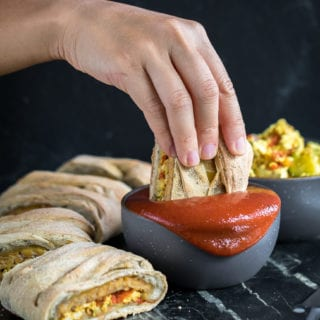 EPIC Vegan Braided Breakfast Calzone! healthy + oil-free option sweetsimplevegan.com