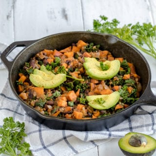 Sweet Potato & Black Bean Breakfast Hash {gluten- and oil-free}