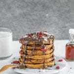 Fluffy Sweet Potato Pancakes {gluten- and oil-free} sweetsimplevegan.com #sweetpotato #pancakes #oilfree #veganbreakfast