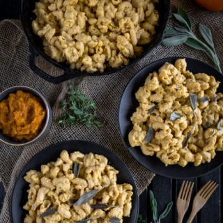 Creamy Pumpkin Pasta w/ Fried Sage {vegan + gluten-free option}
