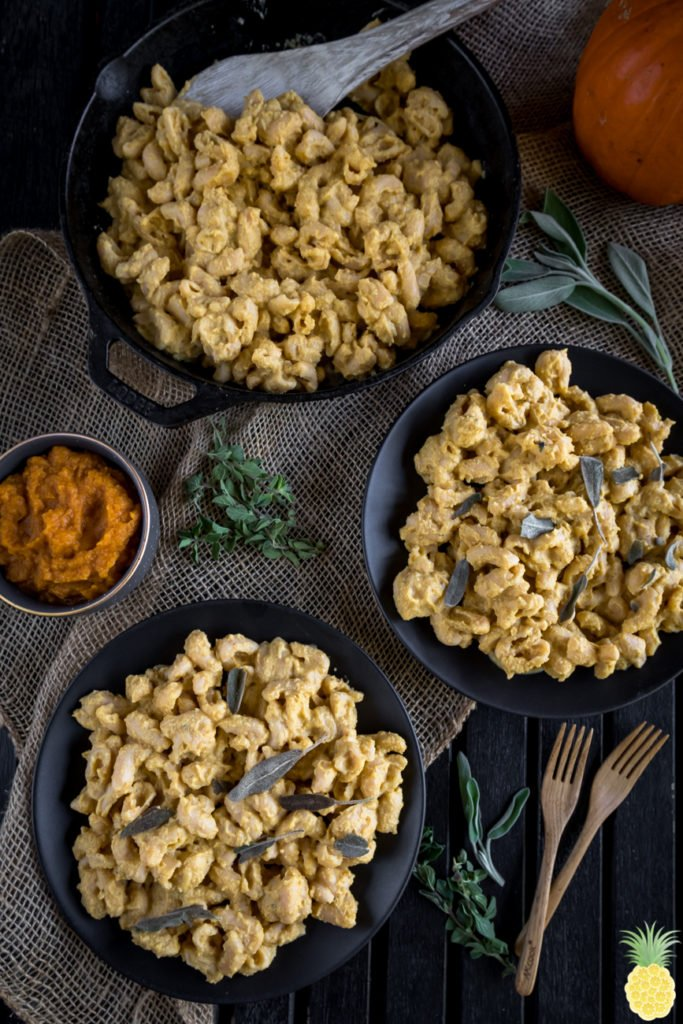 Creamy Pumpkin Pasta w/ Fried Sage {vegan + gluten-free option} sweetsimplevegan.com