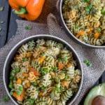 Vegan Fall Pasta Salad w/ Avocado Dijon Dressing {oil-free} sweesimplevegan.com