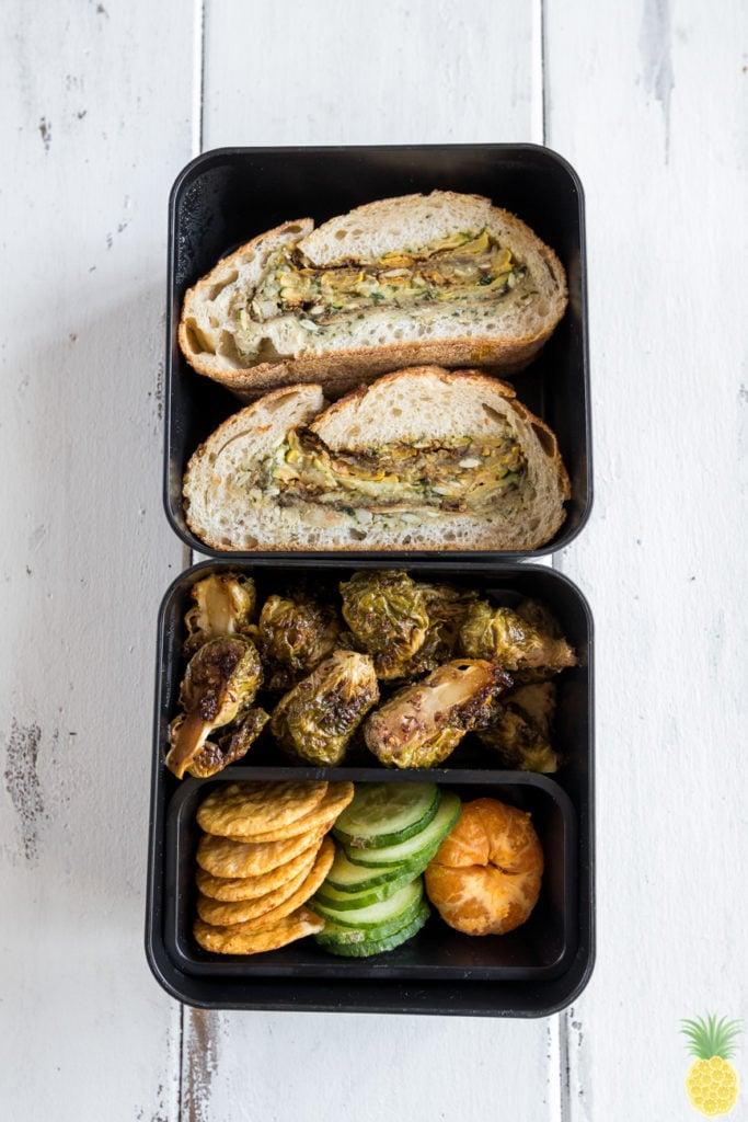 Grilled Fall Vegetable Bread Boat w/ Pumpkin Seed Pesto sweetsimplevegan.com Must Try Fall Recipe!