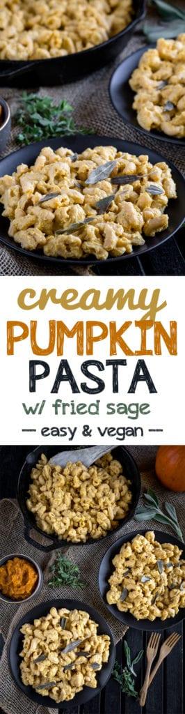 Creamy Vegan Pumpkin Pasta w/ Fried Sage {vegan + gluten-free option} sweetsimplevegan.com