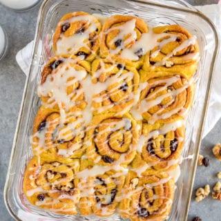 Golden Milk Cinnamon Rolls w/ Cream Cheese Frosting {easy & vegan}