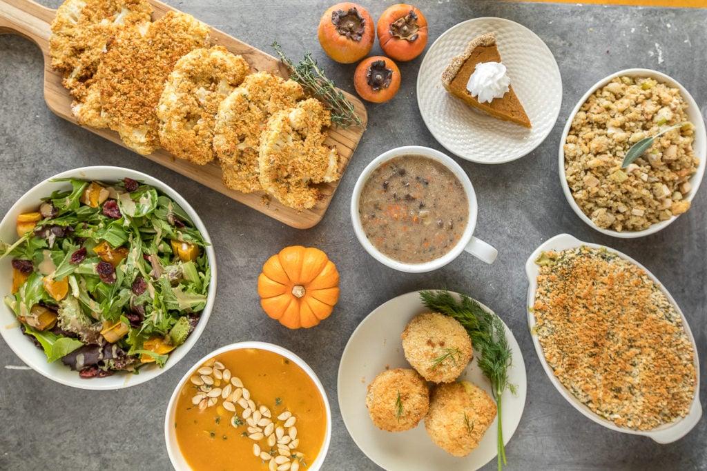 Our Vegan Thanksgiving Menu + Recipes 2017 sweetsimplevegan.com