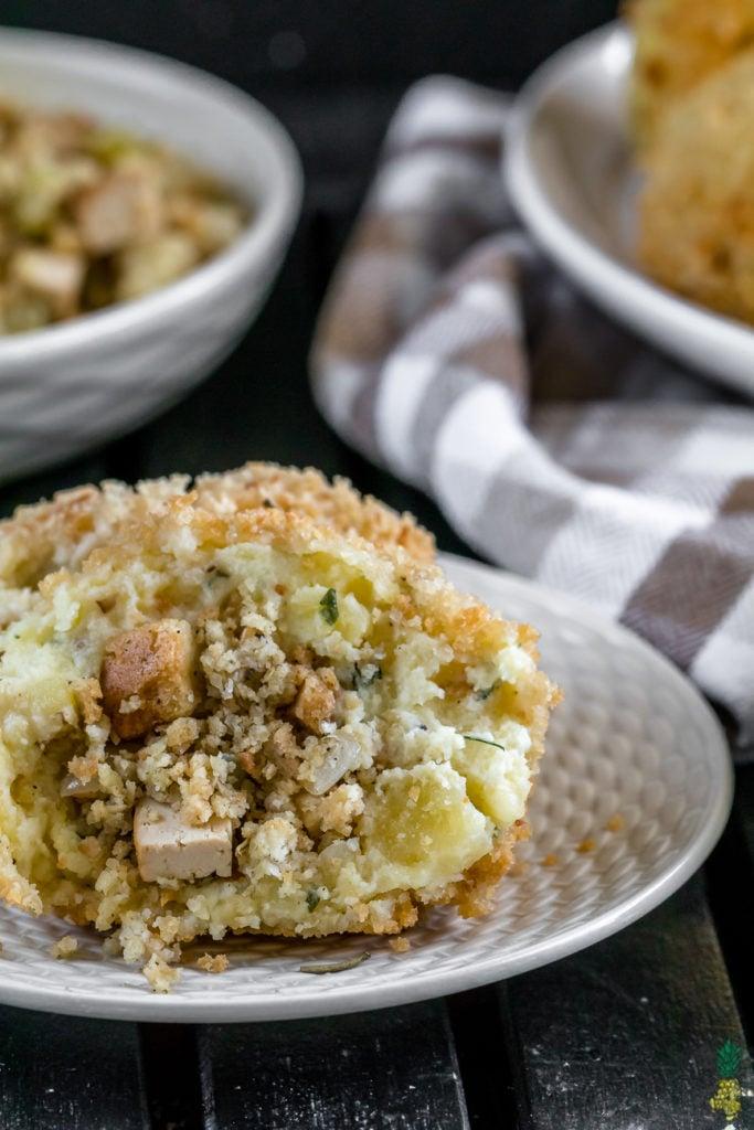 Christmas Recipe - Thanksgiving Stuffed Mashed Potato Balls {vegan}