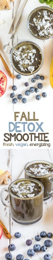 Post Thanksgiving Fall Detox Smoothie sweetsimplevegan.com