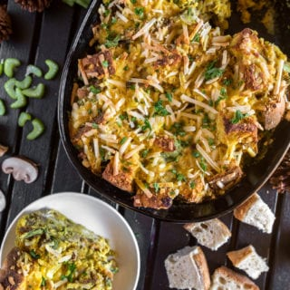 Vegan Strata - Make Ahead Holiday Breakfast Casserole http://sweetsimplevegan.com/2017/12/vegan-strata/ #vegan #strata #holidaybreakfast #breakfast #makeahead #mealprep