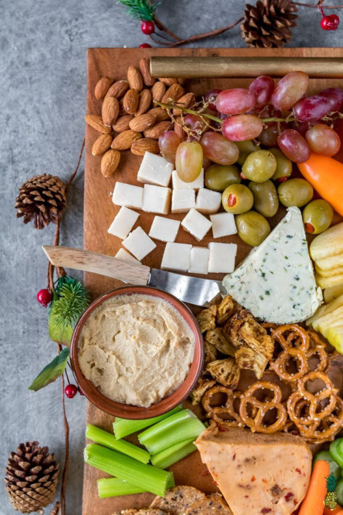 How To Make The Perfect Vegan Holiday Party Platter on https://sweetsimplevegan.com/2017/12/perfect-holiday-party-platter/
