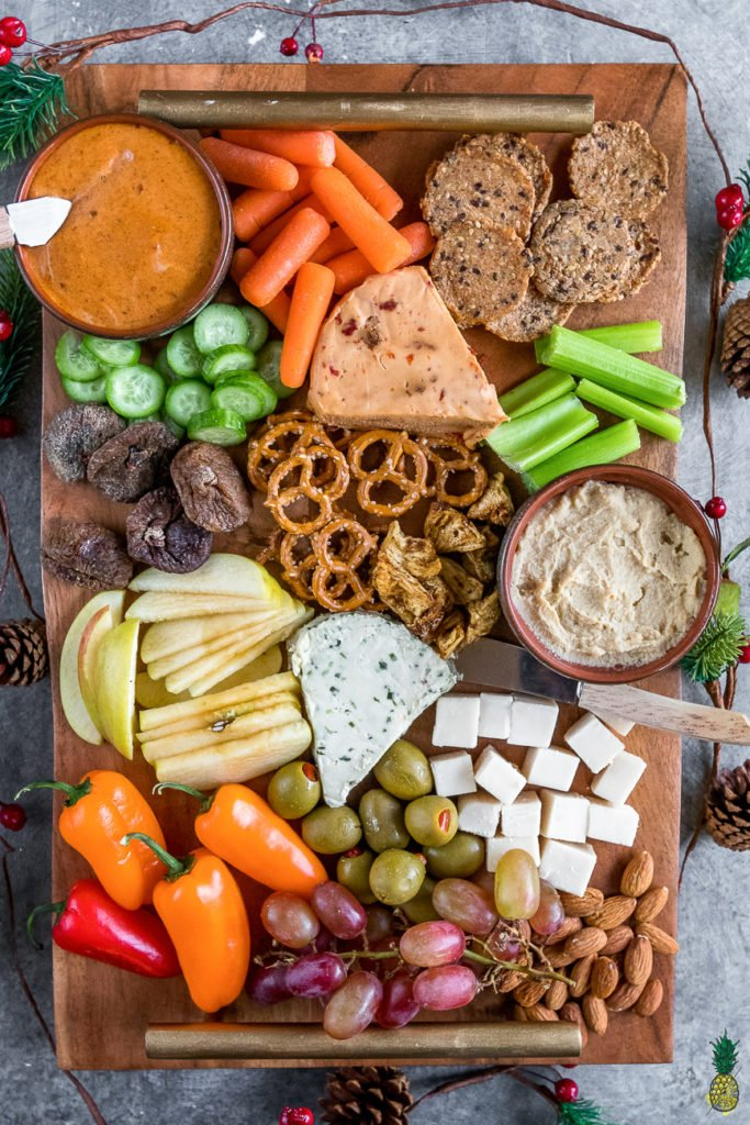 Christmas Recipe -  How To Make The Perfect Vegan Holiday Party Platter on https://sweetsimplevegan.com/2017/12/perfect-holiday-party-platter/