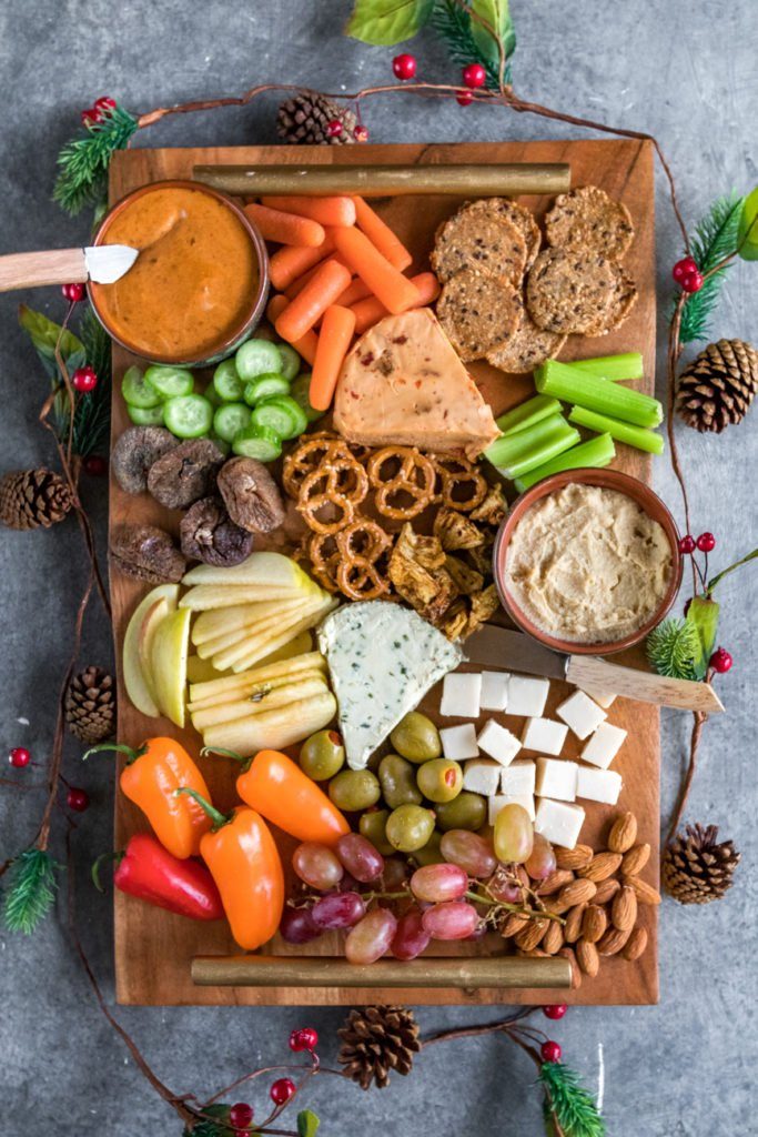 How To Make The Perfect Vegan Holiday Party Platter on http://sweetsimplevegan.com/2017/12/perfect-holiday-party-platter/