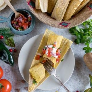 How To Make the BEST Vegan Tamales – 2 Ways! Potato & Pinto Bean + Green Chili & Cheese