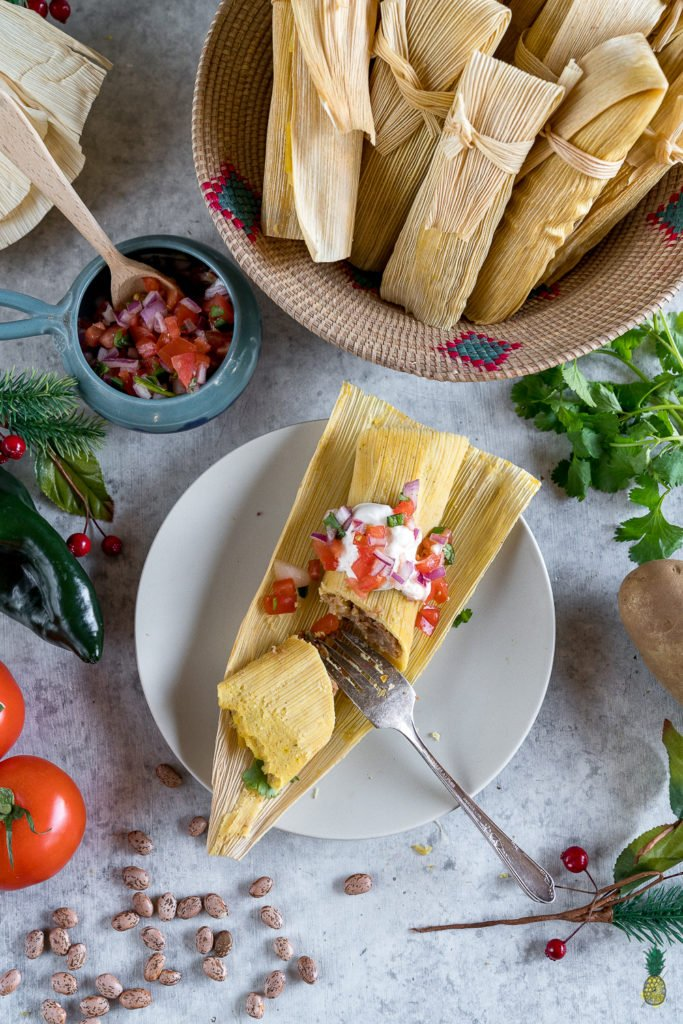 Christmas Recipe - How To Make The BEST Vegan Tamales! #tamales #vegan #howto #christmas #holiday #tradition #mexican #cheese #chili