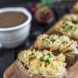 Shepherd's Pie Potato Boats {vegan and gluten-free}