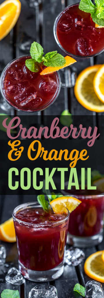 Cranberry & Orange Cocktails that are easy to make and perfect for New Year's Eve! #vegan #cocktail #cranberry #fall #winter #fresh #cocktail #easy #musttry