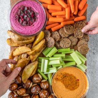 Baked Mojo Fries {oil-free} + Vegan Super Bowl Party Platter