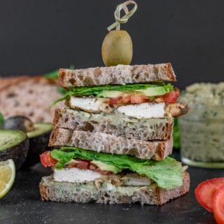Baked Tofu and Pesto Sandwich {easy + oil-free} | Healthy Vegan Lunch For On The Go