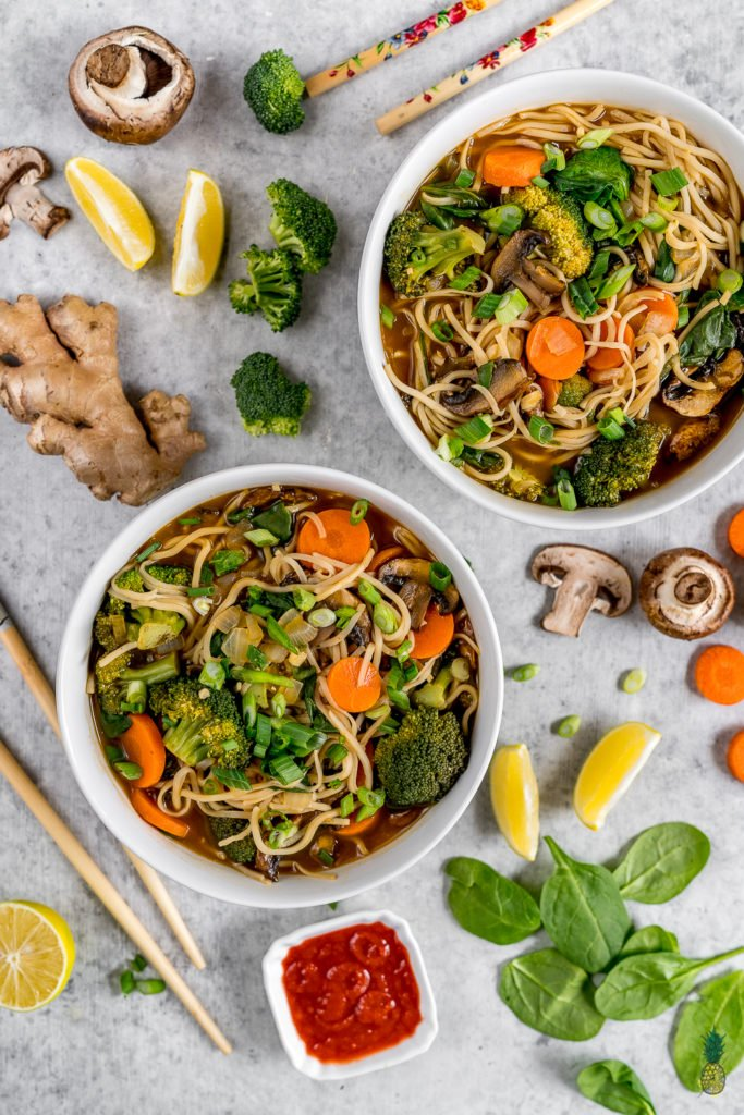 Easy 5 vegetable ramen oil free budget friendly vegan meal an easy to make vegetable ramen that is healthy oil free and will forumfinder Choice Image