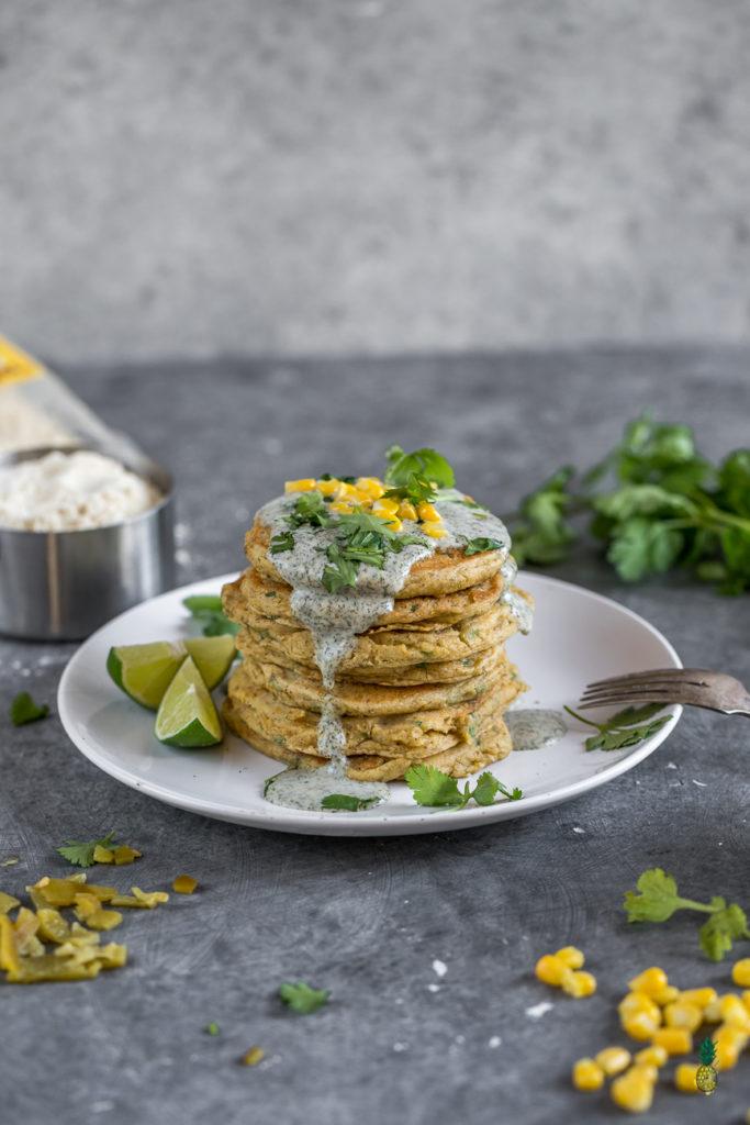 Savory Corn Pancakes Sweet Simple Vegan 1 #vegan #breakfast #pancakes #savory #corn