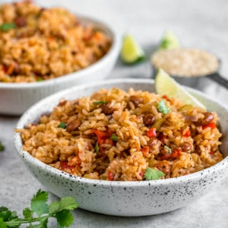 Vegan Spanish Rice and Beans | Easy & Healthy Rice Cooker Meal