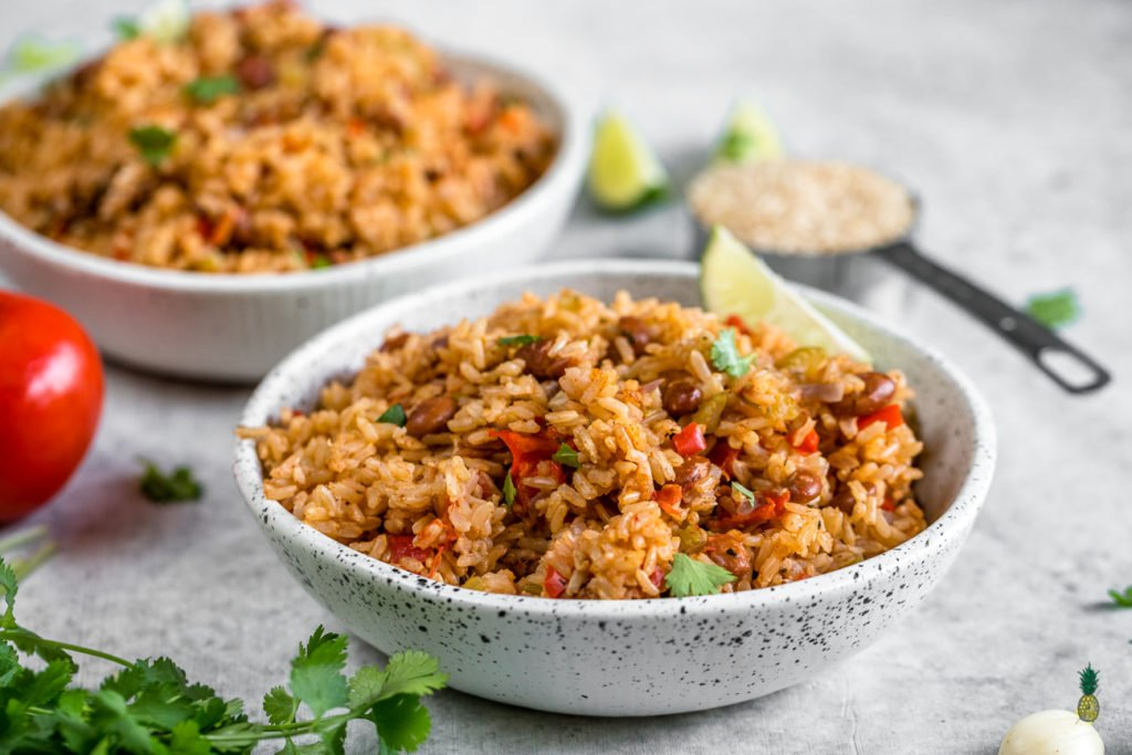 Vegan Spanish Rice And Beans Easy Healthy Rice Cooker Meal