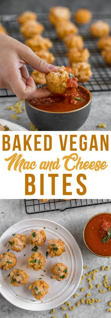 Vegan Super Bowl Baked Mac and Cheese Bites! #vegan #superbowl #vegansuperbowl #macandcheese #bites #vegancheese #bestvegan #baked #partyfood #veganparty